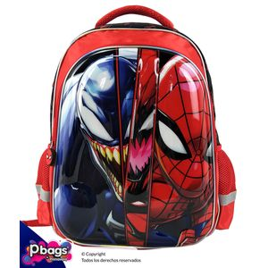 """Morral-165""""-Backpack-Spiderman-Relieve"""