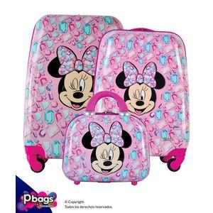 Set-de-Maletas-x3-Minnie-Pink