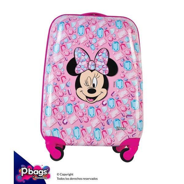 """Maleta-Minnie-Pink-16""""-Trolley-Disney"""