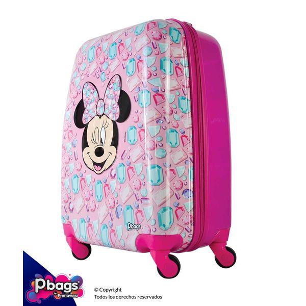 """Maleta-Minnie-Pink-20""""-Trolley-Disney"""