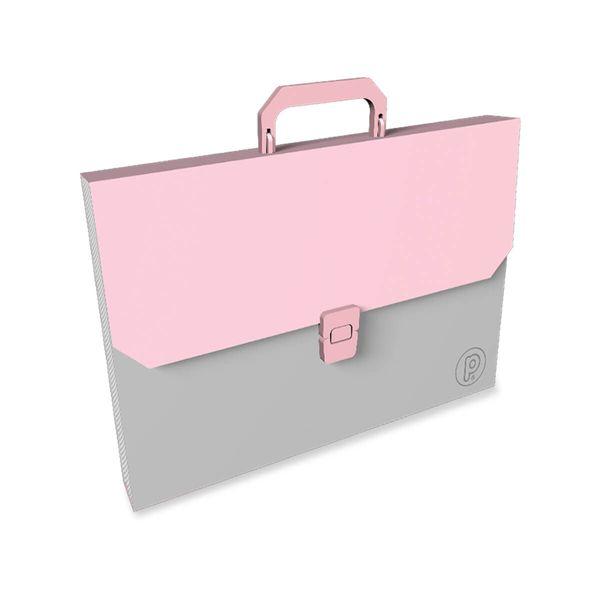 Maletin-Plastico-Unicolor-Rosado-Pastel