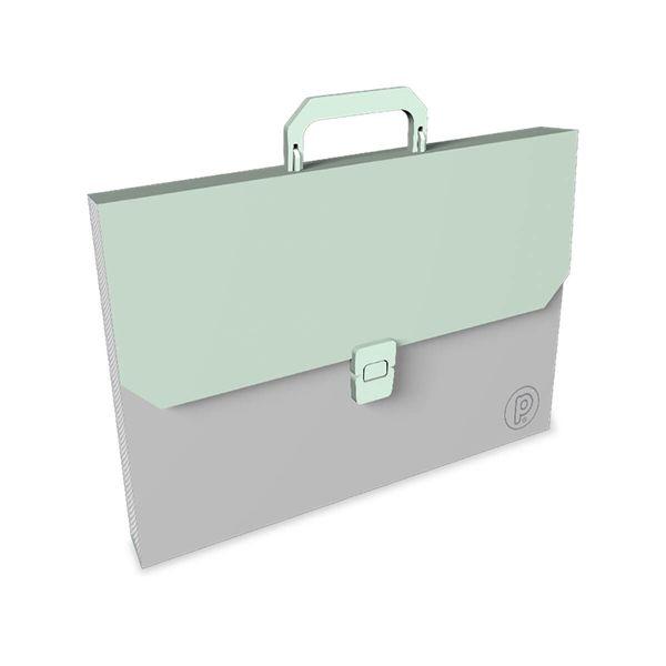 Maletin-Plastico-Unicolor-Verde-Pastel