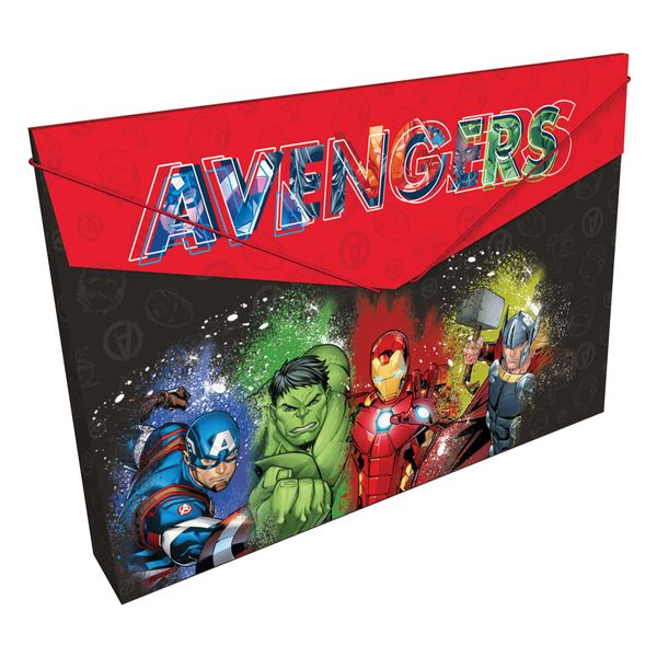 Carpeta-Plastica-Fuelle-Avengers-Rojo-y-Negro-Primavera