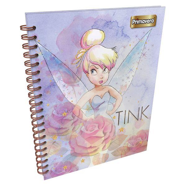 Cuaderno-Argollado-Pasta-Dura-80-Hojas-Cuadriculadas-Grande-Tinkerbell-Lila-