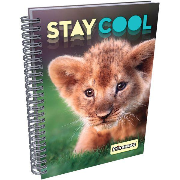 Cuaderno-Argollado-Pasta-Dura-Animales-Leon-Naranja