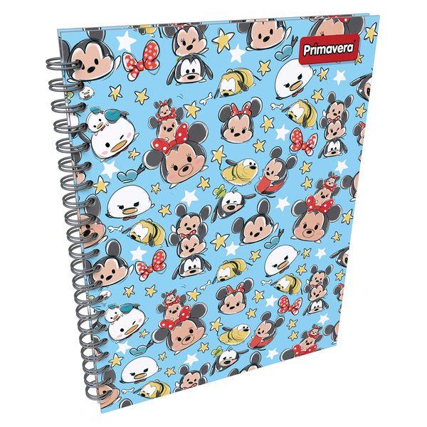 Cuaderno-Argollado-Pasta-Dura-Grande-Disney-Doorables-Azul-Claro-