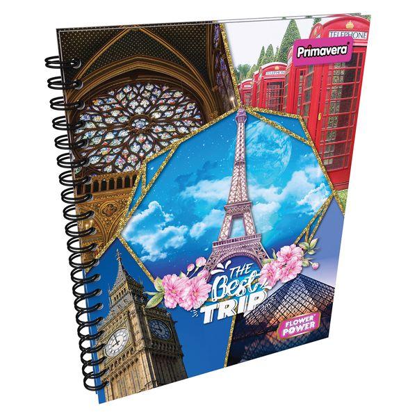 Cuaderno-Argollado-Pasta-Dura-Grande-Flower-Power-Azul-