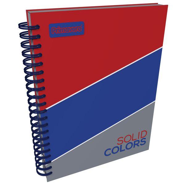 Cuaderno-Argollado-Pasta-Dura-Grande-Solid-Colors-Rojo-y-Gris