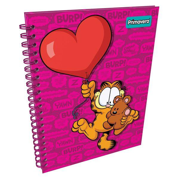 Cuaderno-Argollado-Pasta-DuraGrande-Garfield-Fucsia