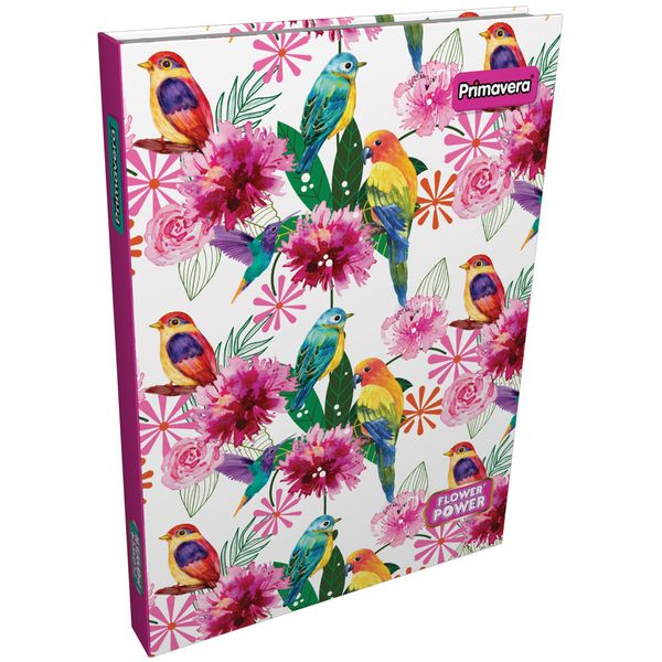 Cuaderno-Cosido-Pasta-Dura--Flower-Power-Fucsia-