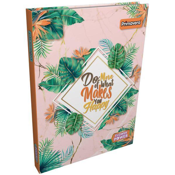 Cuaderno-Cosido-Pasta-Dura-Flower-Power-Naranja-