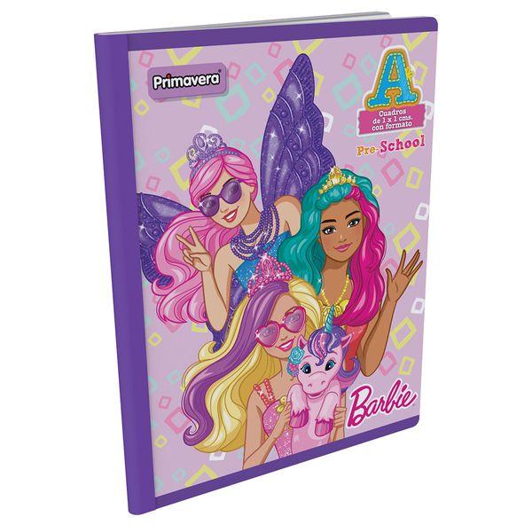 Cuaderno-Cosido-Pre-School-A-Barbie-Morado-
