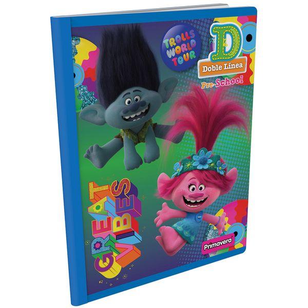 Cuaderno-Cosido-Pre-School-D-Trolls-Verde-