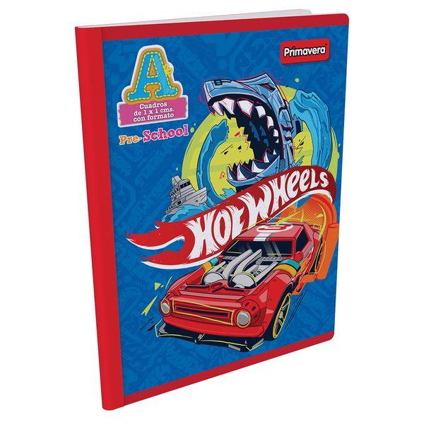 Cuaderno-Cosido-Pre-School-A-Hot-Wheels-Azul-Claro-