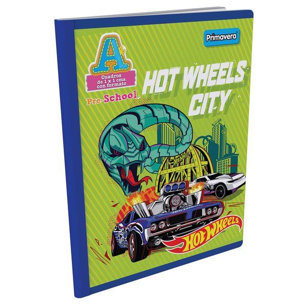 Cuaderno-Cosido-Pre-School-A-Hot-Wheels-Verde-Claro-