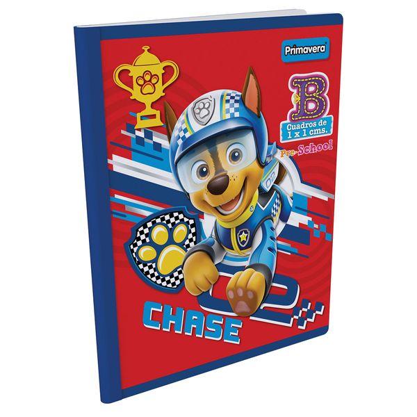 Cuaderno-Cosido-Pre-School-B-Paw-Patrol-Rojo-con-Azul-