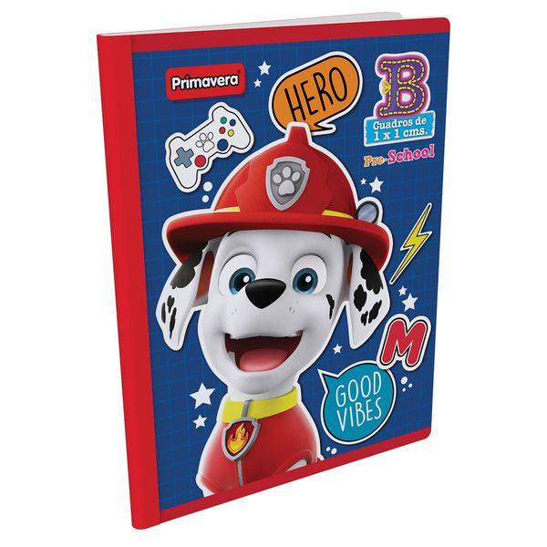 Cuaderno-Cosido-Pre-School-B-Paw-Patrol-Rojo-con-Blanco-