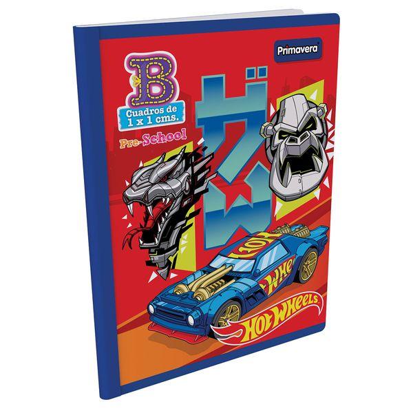 Cuaderno-Cosido-Pre-School-B-Hot-Wheels-Rojo-