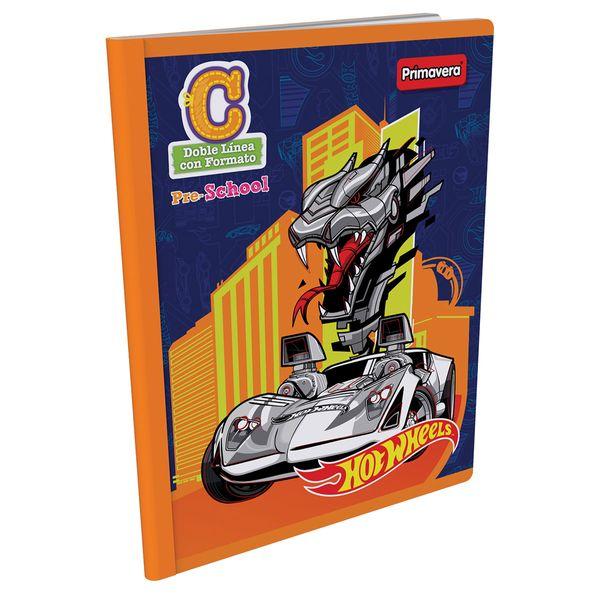 Cuaderno-Cosido-Pre-School-C-Hot-Wheels-Naranja-
