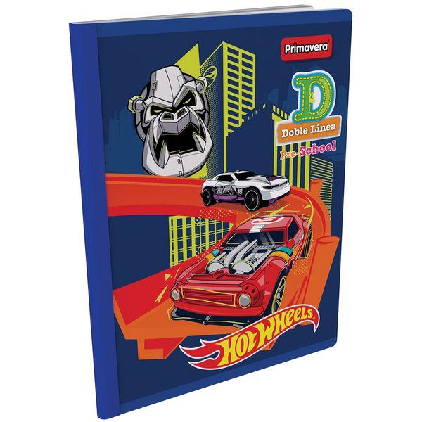 Cuaderno-Cosido-Pre-School-D-Hot-Wheels-Azul-
