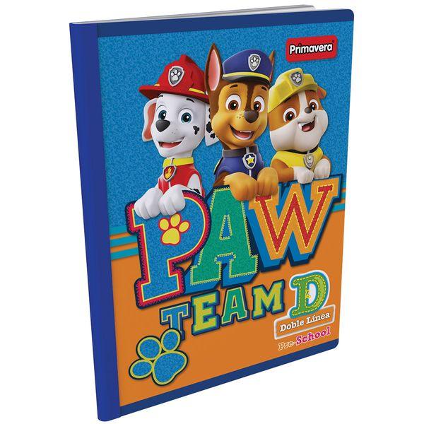 Cuaderno-Cosido-Pre-School-D-Paw-Patrol-Azul-Claro-