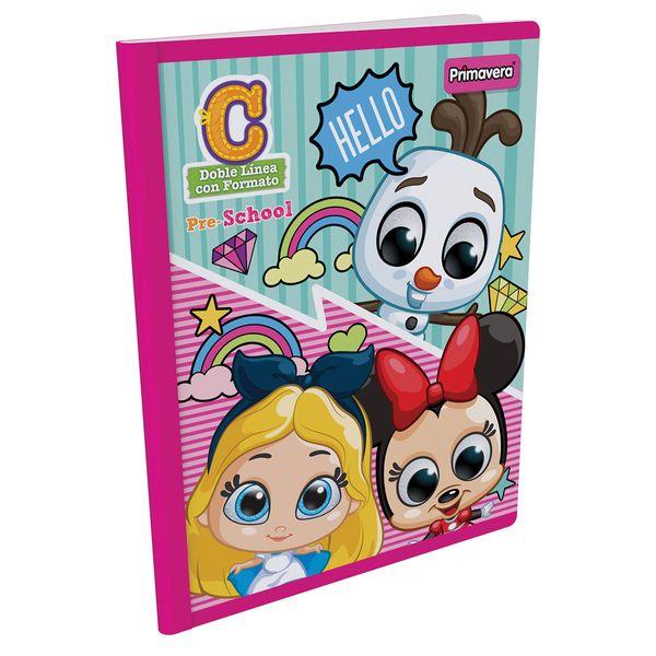 Cuaderno-Cosido-Pre-School-C-Disney-Doorables-Rosado-