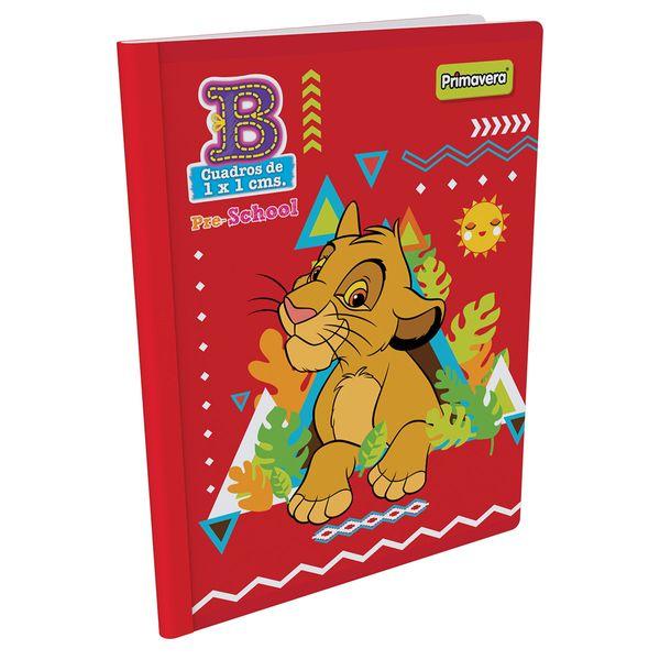 Cuaderno-Cosido-Pre-School-B-Rey-Leon-Rojo-