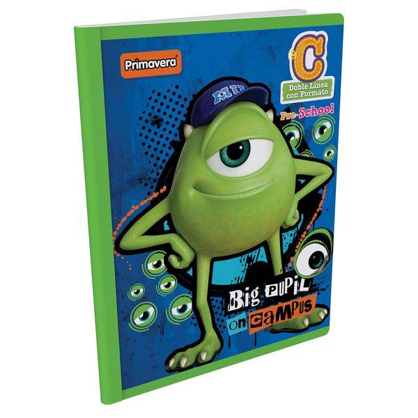 Cuaderno-Cosido-Pre-School-C-Monster-Inc.-Azul-Oscuro-
