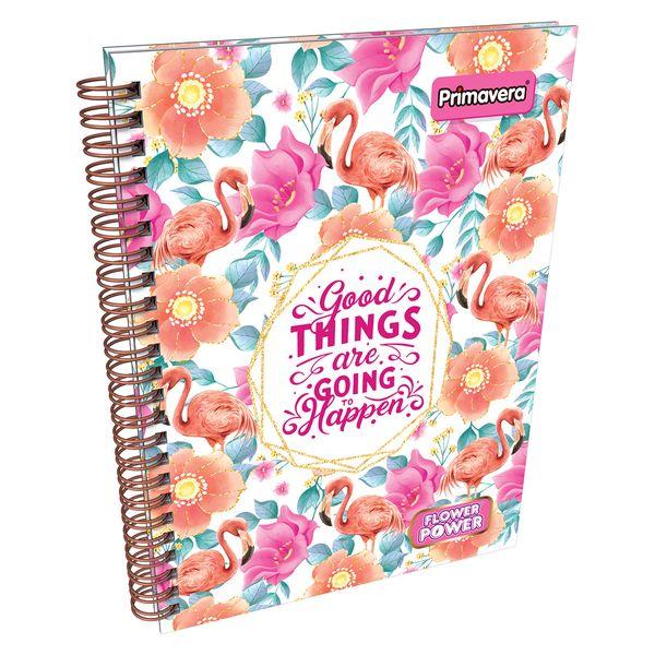 Cuaderno-Argollado-Pasta-Dura-Flower-Power-Rosado