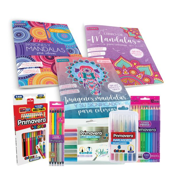 kit-libros-mandalas-colores-plumon-marcador