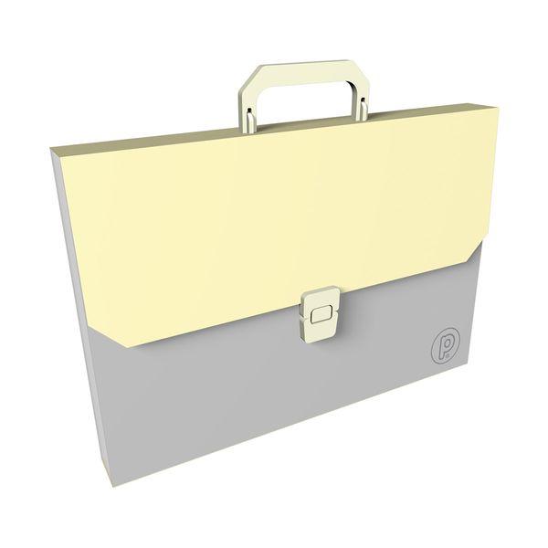 Maletin-Plastico-Unicolor-Amarillo-Pastel---13-Bolsillos