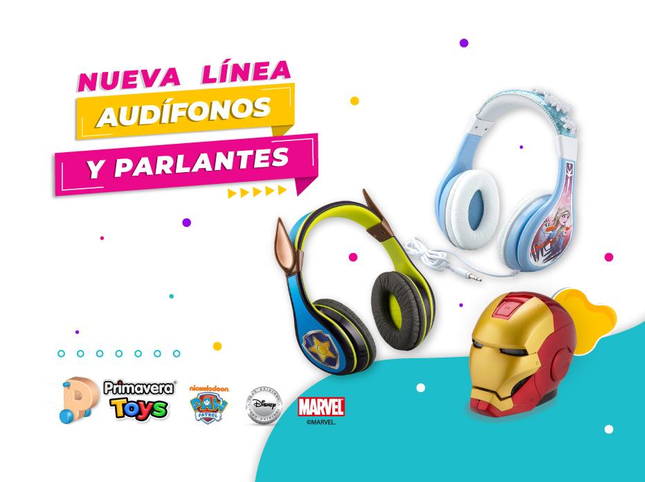 Banner Audífonos y Parlantes Mobile